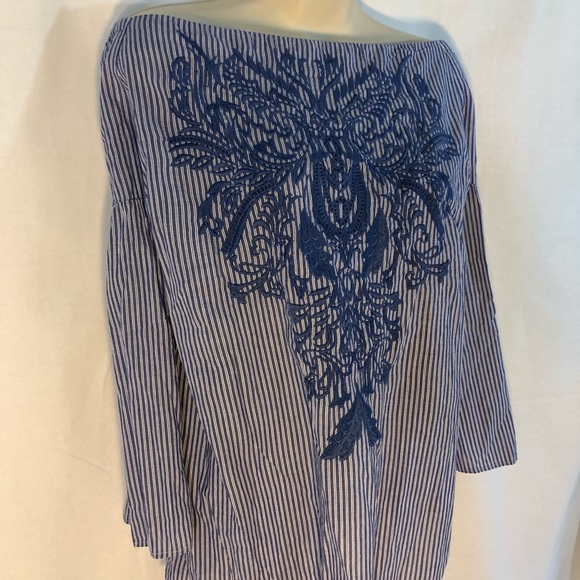 96a81cb4531c8 Plus Size Cotton Off-The-Shoulder Top Embroidered